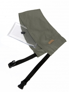 Shoulder pad made of SoftGel with shoulder pad holder